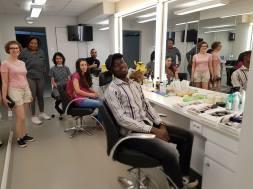 Backstage: In the make-up room // Backstagella, meikkihuoneessa
